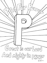 coloring pages for kids by mr adron p is for power psalm 147 5