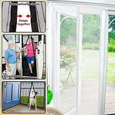 Magic Mesh Curtain Starmo White Magic Curtain Door Mesh Magnetic Flying Bug Insect