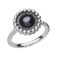 diamond pearl rings images Effervescence silver blue diamond pearl ring links of london jpg