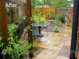 small garden design in tatsfield after landscaping shaped ornellas