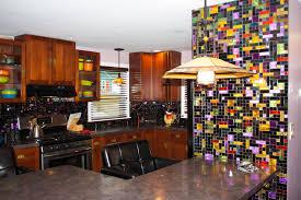 new york residence multi colored dichroic glass tile kitchen multi colored dichroic glass tile kitchen backsplash 2