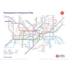underground map shakespeare s 400th anniversary map transport museum