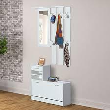 Hallway Shoe Storage Cabinet Homcom Hallway Furniture Set Drawer Shoe Storage Rack Entryway