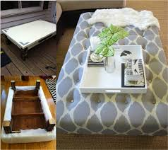 Ottoman Diy Diy Ottoman From Coffee Table Tutorial Do It Yourself Ideas