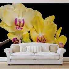 orchid flowers wall paper mural buy at europosters price from