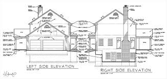 side elevation main level and side elevation plans the makerista