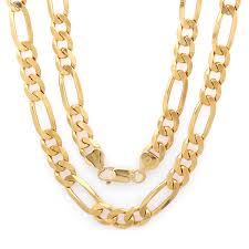 necklace figaro images Sterling silver yellow gold plated italian 7 5mm figaro chain 22 jpg