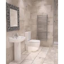 Tiled Bathroom Walls And Floors - wickes cabin tawny beige ceramic tile 600 x 300mm wickes co uk