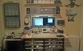 one walll workbench lots of storage and organization for small