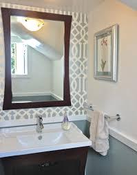 bathroom with wallpaper ideas bathroom powder room decorating tips decor ideas bathroom from
