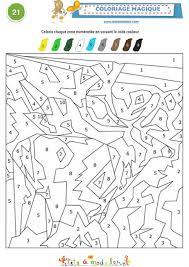 coloriage magique 21 codé de 1 à 9 coloriage tête à modeler