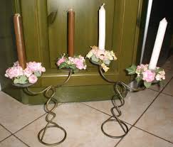 candelieri in ferro battuto 2 candelabri ferro battuto figura elicoidale a monfalcone