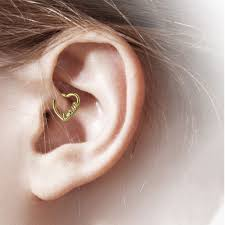 cartilage hoop bodyj4you 16g 1 2mm daith earring piercing heart cz