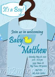 baby shower onesie invitations printable baby boy custom order