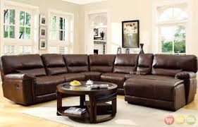 Brown Leather Sectional Sofas With Recliners 12 Best Collection Of 6 Piece Leather Sectional Sofa