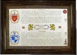 unique wedding present wedding gifts or anniversary gift beautiful family coat of arms
