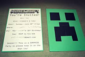 minecraft birthday invitations minecraft birthday party ideas the things journal
