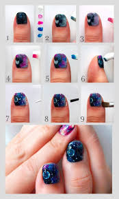 easy nail art tutorials general diy nails amazing galaxy nails