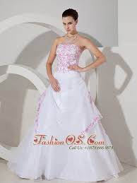 pink embroidered wedding dress pink embroidery with beading decorate bodice a line organza