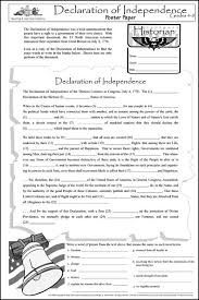 Declaration Of Independence Worksheet Answers Declaration Of Independence Poster Paper 031921 Details
