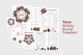 christmas concert program template 44 recital themes everyone will love composecreate com