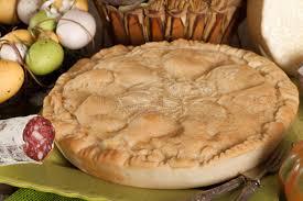 cuisine napolitaine pizza rustica cuisine napolitaine traditionnelle image stock