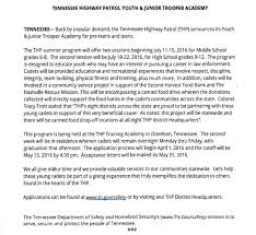 thp junior and youth academy applications due asap