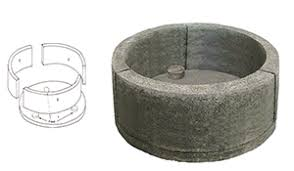 Fire Pit Kit Stone by Stone Age Tall Round Outdoor Fire Pit Kit Old Station Landscape