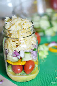Homemade Pasta Salad by Mason Jar Pasta Salad Perfect For A Picnic Finding Zest