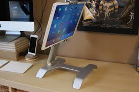 the tstand gives the ipad pro a place at your desk or on your lap the tstand is currently a kickstarter there are just six days left in the campaign as of this blog post but surface id plans to use its massive