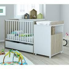 chambre bébé bois naturel lit bébé 60x120 avec tiroir evolutif en lit enfant 90x200 es117 bois