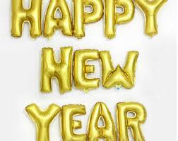 happy new year balloon new years balloons etsy