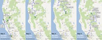 Crater Lake Oregon Map by Four Perfect Motorcycle Days Me And Myconnie