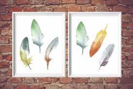 feather home decor printable feather art