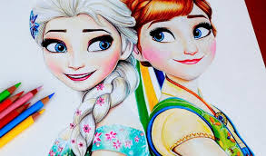 coloring marvelous frozen anna drawing disney sketches