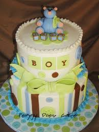baby shower cake cute as a button
