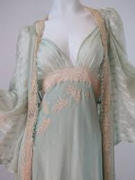 peignoir sets bridal heirloom vintage 30 s bridal trousseau silk peignoir set