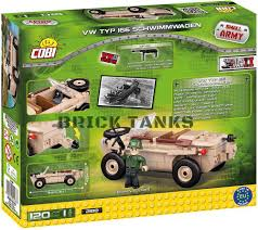 volkswagen lego vw typ 166 schwimmwagen cobi compatible with lego brick amphibious