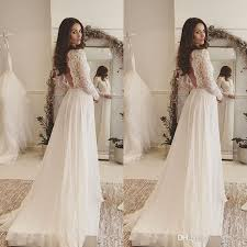 wedding dress discount discount 2017 simple bohemian wedding dresses v neck