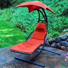 Lounge Chair Umbrella Hanging Chaise Lounge Swing Outdoor Furniture Patio Porch Deck