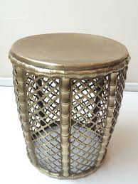 heavy brass drum table at 1stdibs