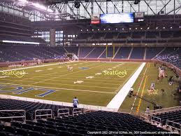 ford field section 123 seat views seatgeek