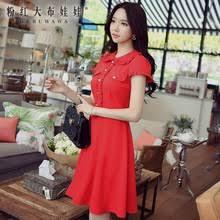 popular peter pan collar red dress buy cheap peter pan collar red