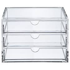 Acrylic Desk Drawer Organizer Acrylic 3 Drawer Organizer Us