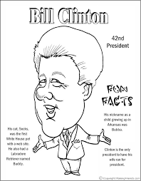 lincoln coloring pages bill clinton coloring page coloring pages pinterest bill