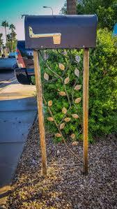 rustic mailbox stand garden trellis