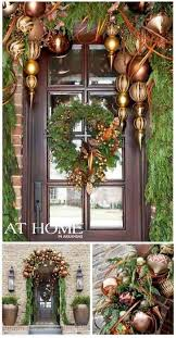 How To Decorate A Swag For Christmas 383 Best Christmas Doors Wreaths Windows Images On Pinterest