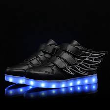 big kids light up shoes sweeting wings led light up shoes 11 colors flashing rechargeable