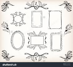 calligraphic borders and frames easily decorate your template