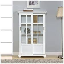 Wooden Bookcase With Glass Doors White Cabinet Glass Door Wood Bookcases With Sliding Glass Doors
